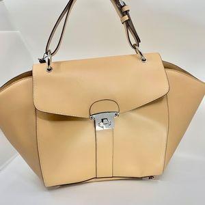 NWT Camel colored leather shoulder bag